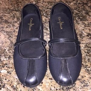 Black Cole Haan/Nike air slip ons